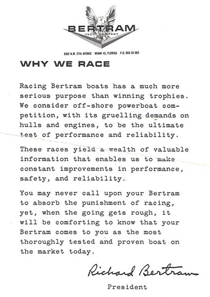 Bertram Race Letter